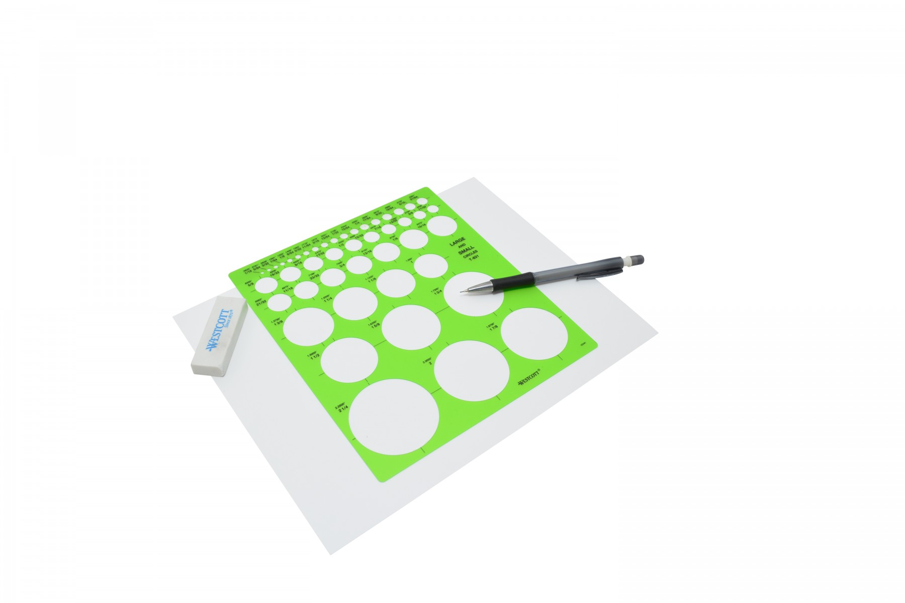 westcott t 831 large and small circles template