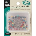 Dritz 31 75 long color balls pin  sz 24 - 1 1/2