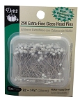 DRITZ D61 Extra Fine Glass Head Pins