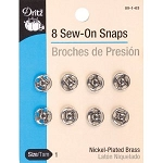 Dritz 80-1-65 Sew-On Snaps Nickel Size 1