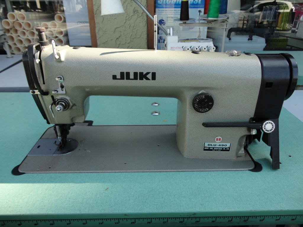 Juki DLU-490, 1-needle top needle feed, industrial lockstitch sewing machine
