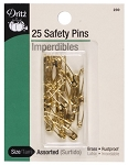 Dritz D230 Safety Pins Asst Gilt Size#0 & #00 22C