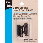 DRITZ 92-66 Sew-On Wide Hook & Eye Closures