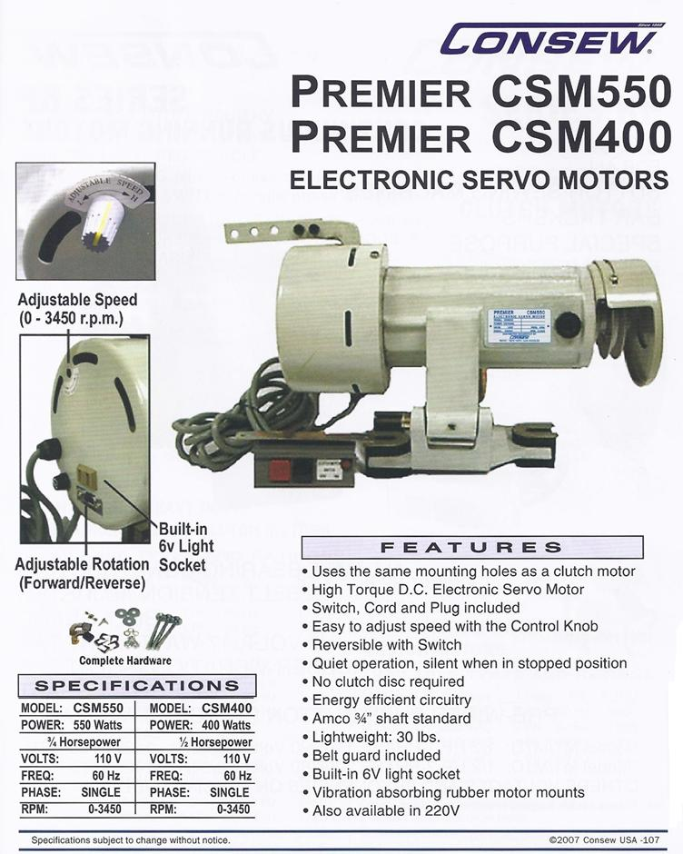 csm550 variable speed servo motor