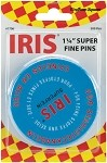 IRIS 1706, Blue Tin, Euro-Notions Iris Swiss Super Fine Pins, 500-Pack