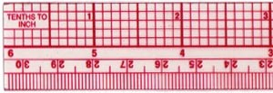 C-Thru  B-65, Metric Beveled Standard Rulers 1