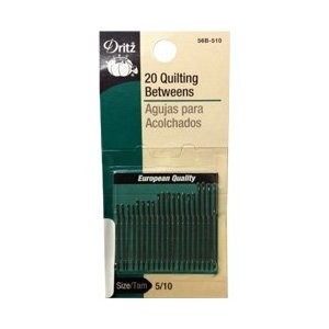 Dritz 56B-510 Quilting Between Needles Size#5/10 20Ct