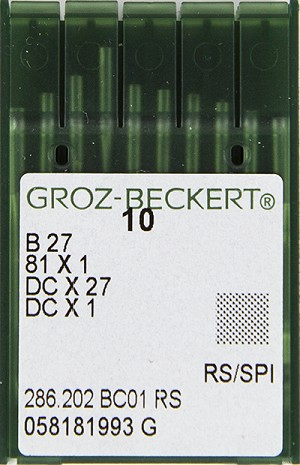 Groz Beckert Needles B 27 Pack Of 10 Needles