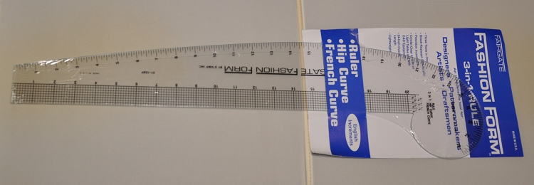 FAIRGATE 01-128 Fashion Ruler, 3 in 1