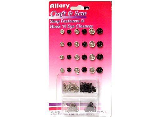 Allary Craft and Sew - Snap Fasteners with Hook and Eyes 827