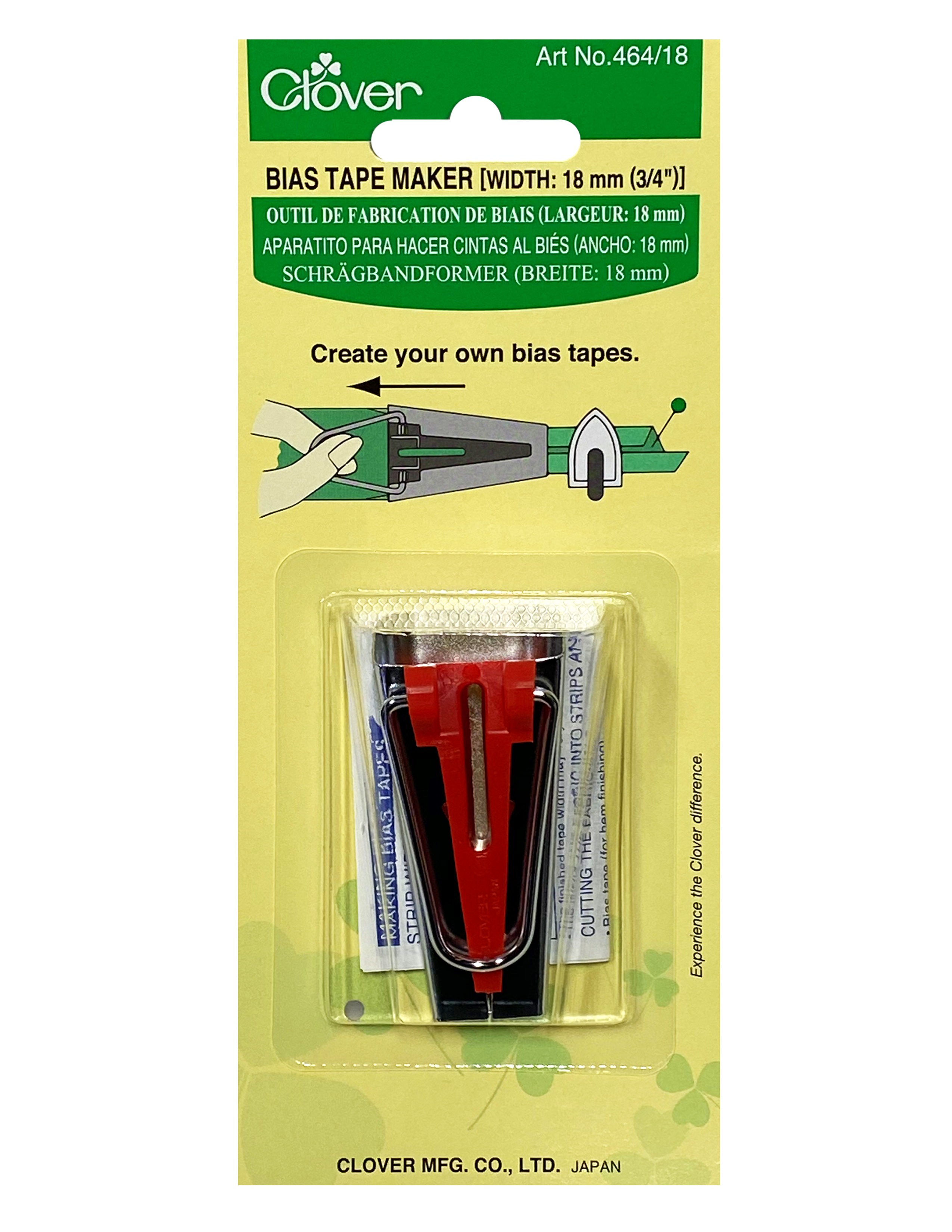 Clover Bias Tape Makers Item #464 / 18 (18mm 3/4