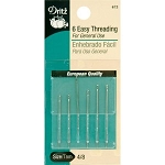 Dritz 672 6 easy threading needles Sz 4 /8