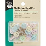 Dritz 67 Flat Button Head Pins - 50 count