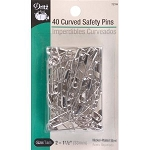 Dritz 7215 Curved Safety Pins - Size 2 40/Pkg