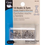 Dritz 90-2-65 Hooks & Eyes Nickel Size 2