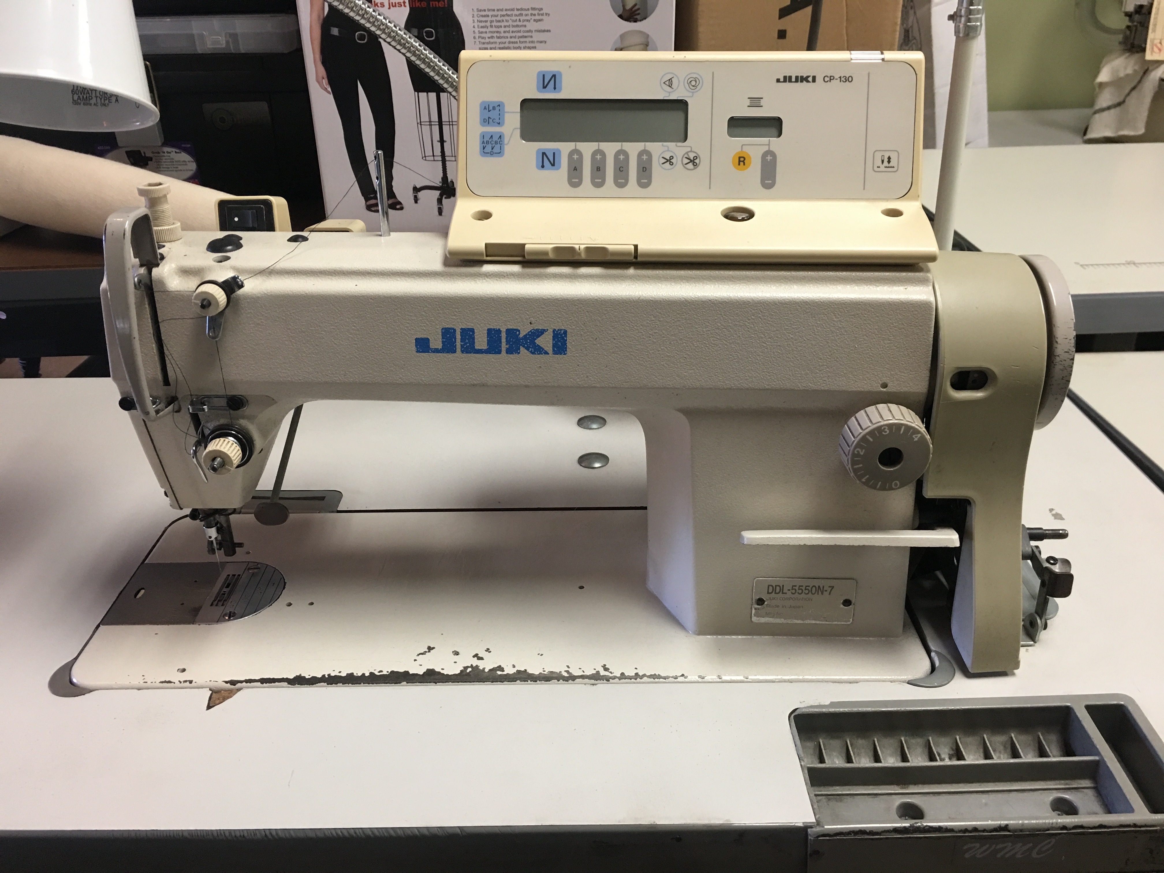 Juki DDL-5550N-7  High speed 1-needle machine with automatic thread trimmer