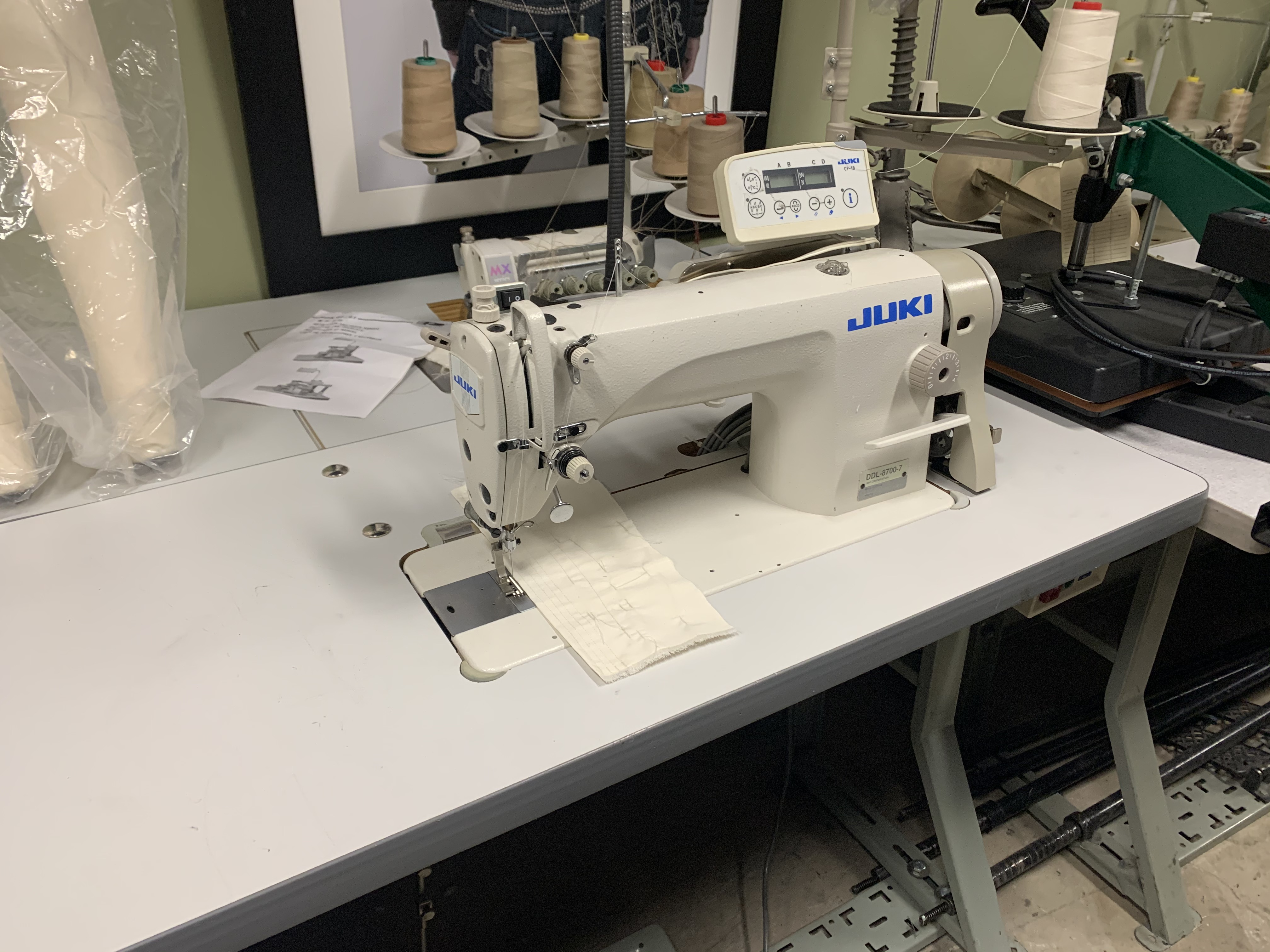 Juki DDL-8700-7  INDUSTRIAL Single Needle automatic sewing machine