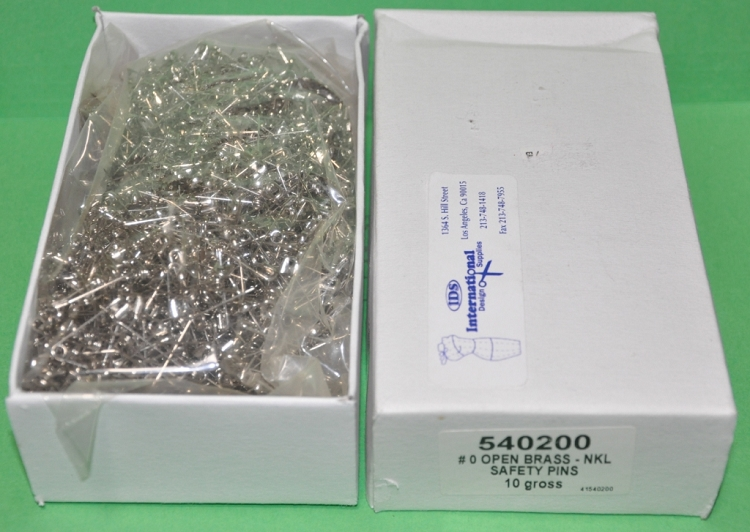 PRYM 540200 #0 Safety Pins Nickel Plated Steel Silver Color 7/8