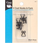 Dritz 97-1 4 Coat hooks & eyes  3/8