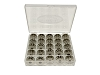 25 Metal Bobbins and Case, Class 15 81348 / 006066008 / 2518P/ 15J / 102261103 For singer consew brother sewing machines