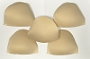 Bra Pads Inserts - Round, Nude Beige 12 Pairs Pack. Sizes available: 6, 8, 10, 12, 14