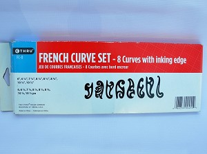 Westcott FC-8, French Curves Set (8 Plastic Rulers)