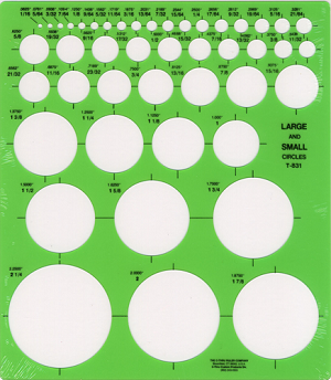 C-Thru T-831, Large and small circles template